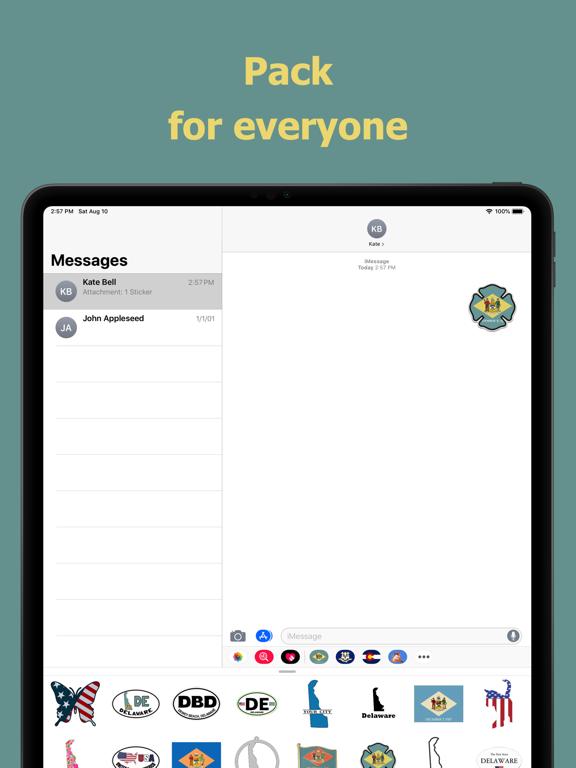 Delaware emojis - USA stickers screenshot 9