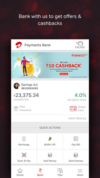 Airtel Thanks- Recharge & Bank screenshot-4