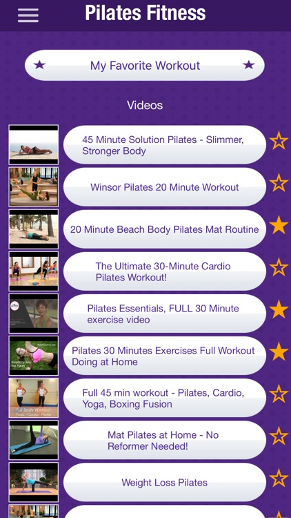 Pilates Fitness Workout Videos