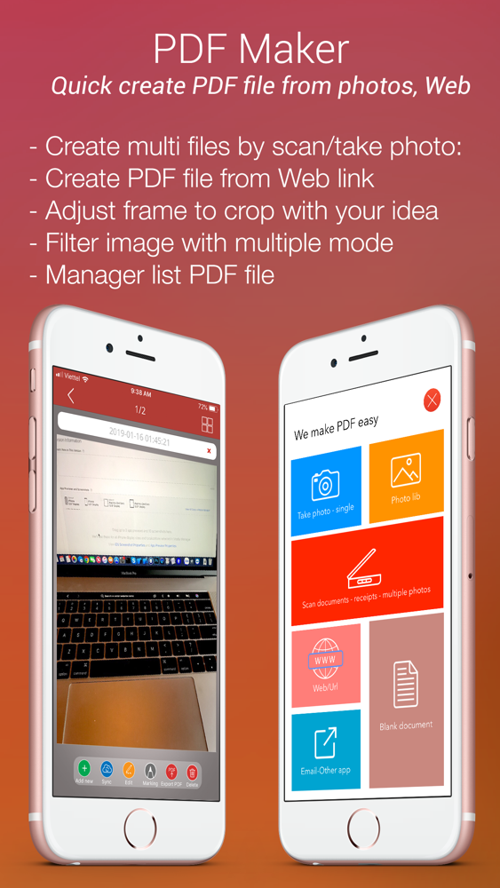 PDF Maker from photo, web, doc App for iPhone - Free