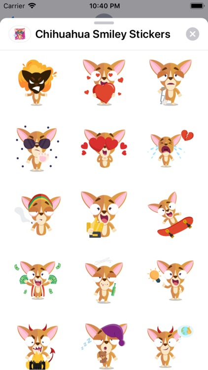 Chihuahua Smiley Stickers