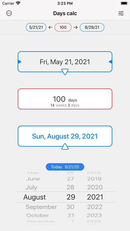 Days calc - dates calculator