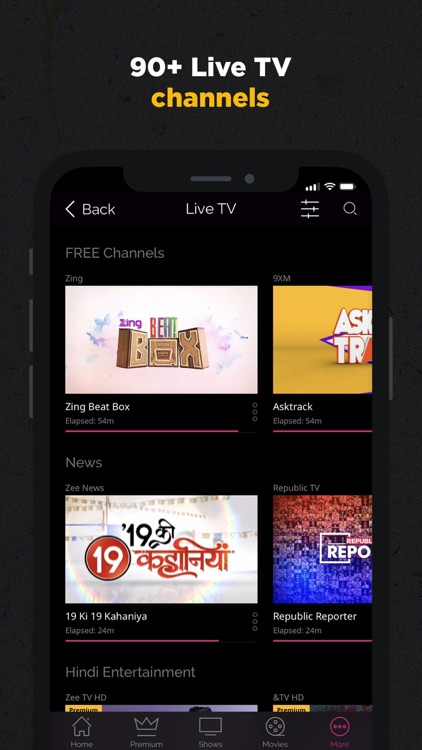ZEE5 - Shows Live TV & Movies screenshot-2