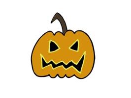 Halloween Stickers Handdrawn