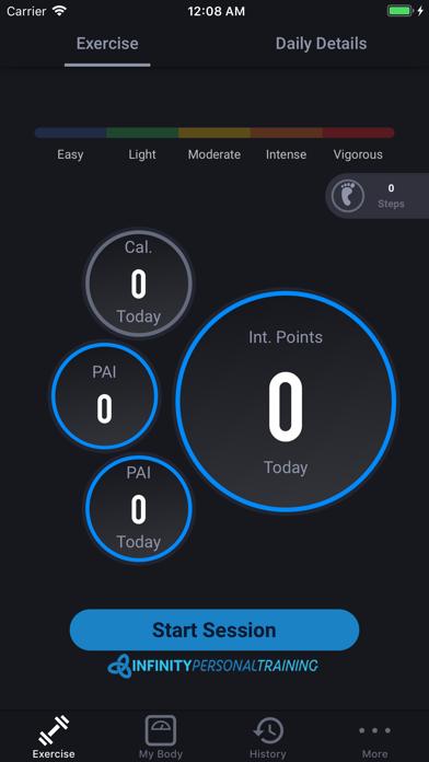 Infinity Personal Training app image