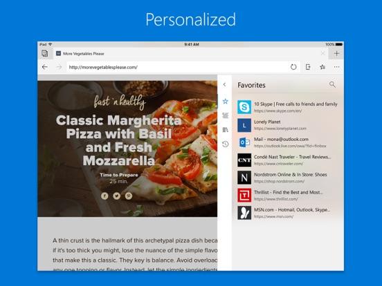 iPad Image of Microsoft Edge