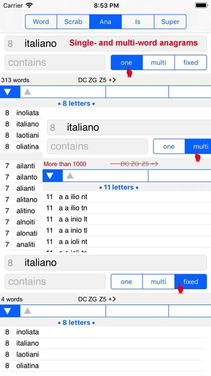 WordsFinder Italiano PRO screenshot-4