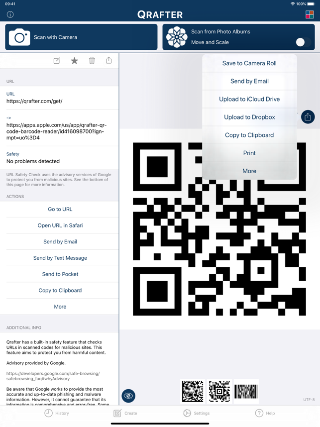 ‎Qrafter Pro - QR Code Reader Screenshot