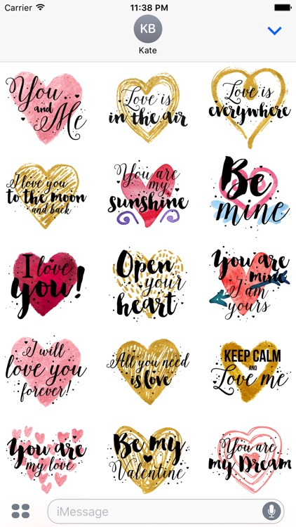 Animated Love Quotes Stickers screenshot-0
