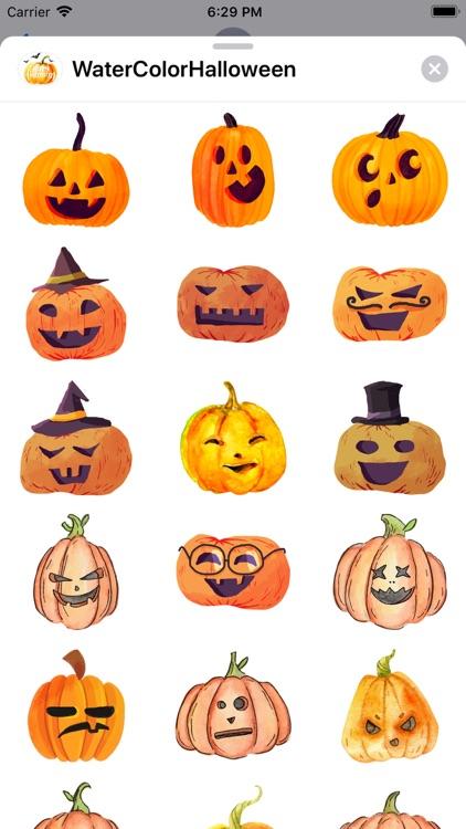WaterColor Halloween Stickers