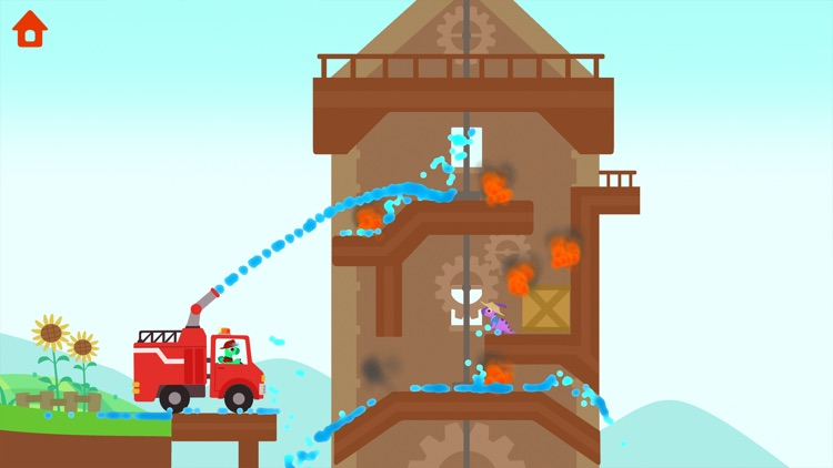 Dinosaur Fire Truck: Kids Game