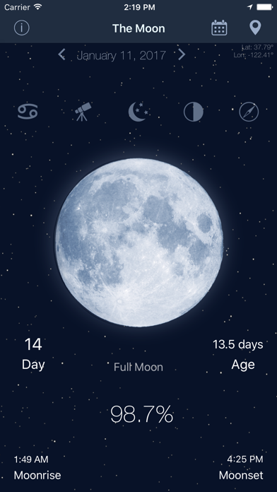 The Moon: Calendar Moon Phases Screenshot
