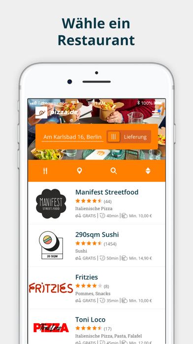 Screenshot for pizza.de - Essen bestellen in Germany App Store