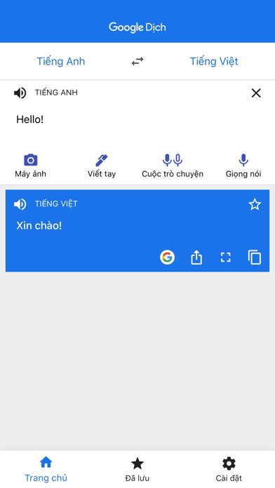 Screenshot for Google Dịch in Viet Nam App Store