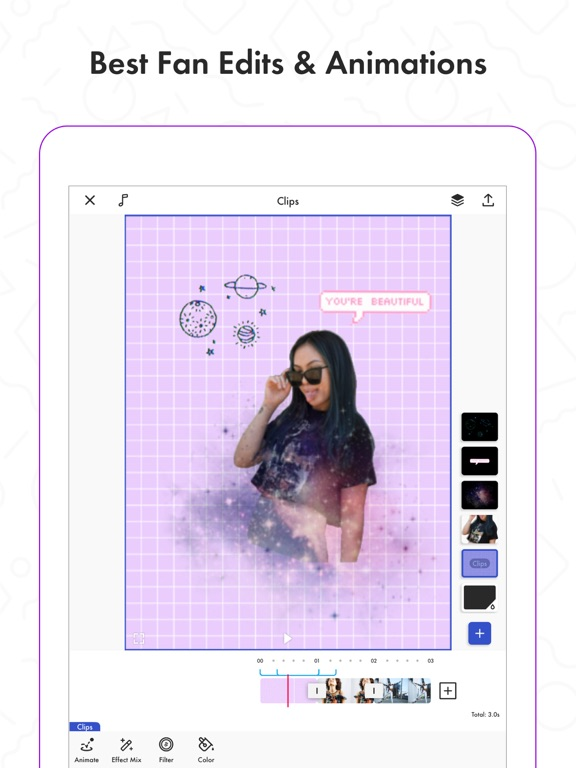 Funimate music video editor - add perfect effects for musical and lip sync screenshot