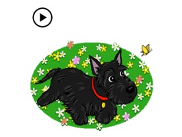 Update new stickers - Animated Cute Scottish Terrier