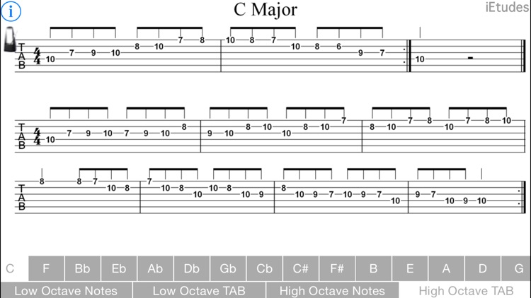 Major Scales Guitar screenshot-4
