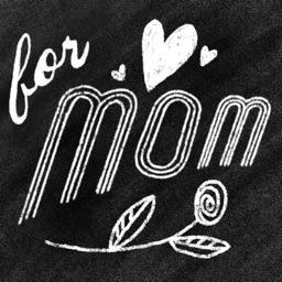 For Mom Chalk White