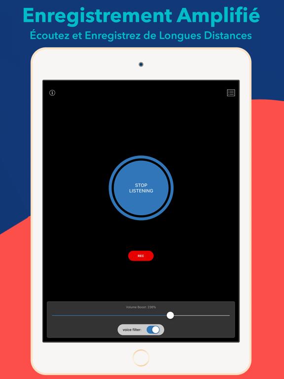 Screenshot #4 pour Hear Boost Enregistreur Boosté