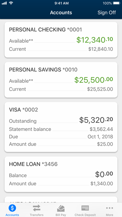 University Credit Union screenshot two