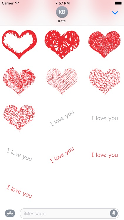 With Love - Heart Sticker