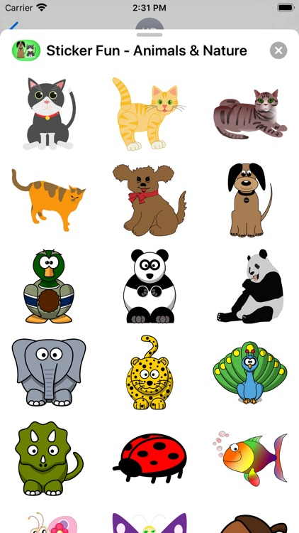Sticker Fun - Animals & Nature