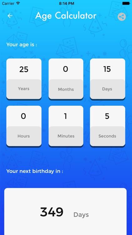 Easy Age Calculator screenshot-3