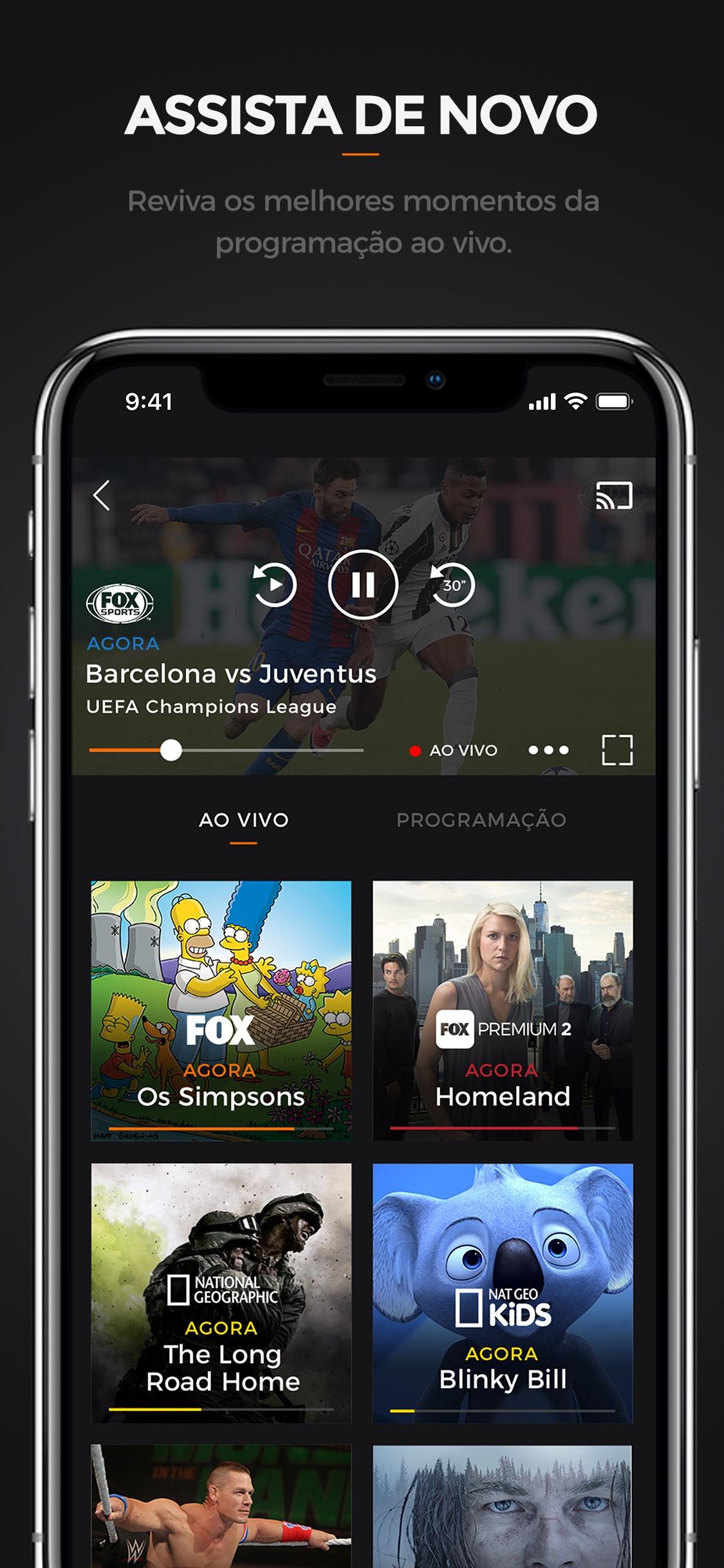 Screenshot do app FOX Brasil