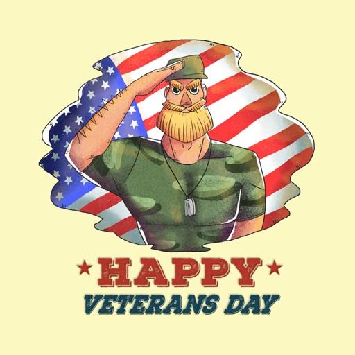 Thankful Veterans Day Stickers