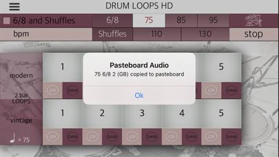 Screenshot #2 pour Drum Loops HD