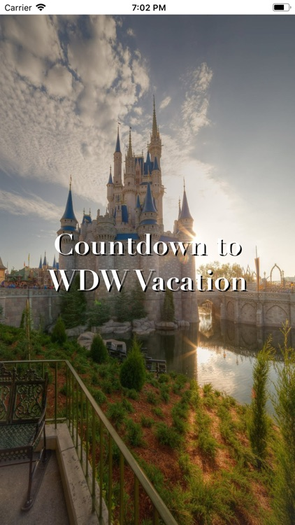 Countdown to WDW Vacation