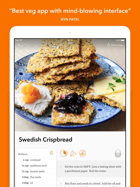 Veggie Meals: simple vegetarian & vegan recipes screenshot