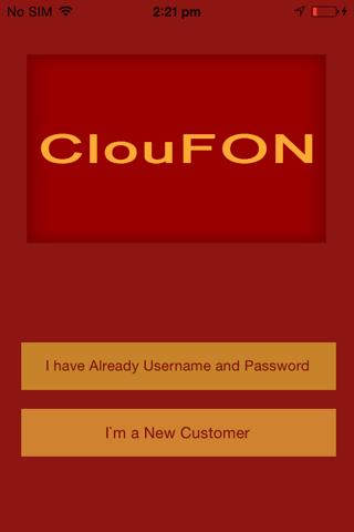 Screenshot of ClouFON