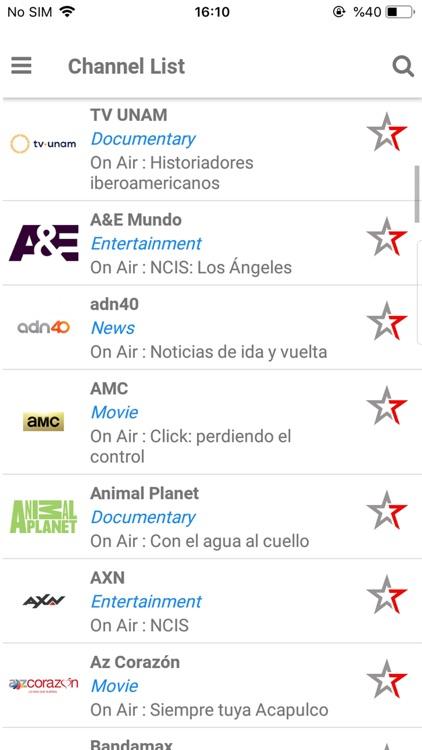 TV Mexico EPG