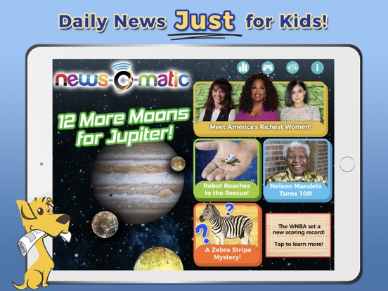 Screenshot #4 pour News-O-Matic: Reading for Kids