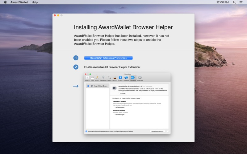 AwardWallet скриншот программы 1