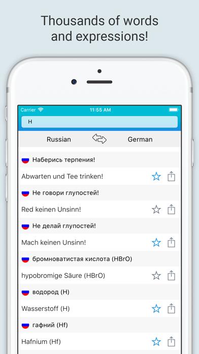 German Russian Dictionary + screenshot 4