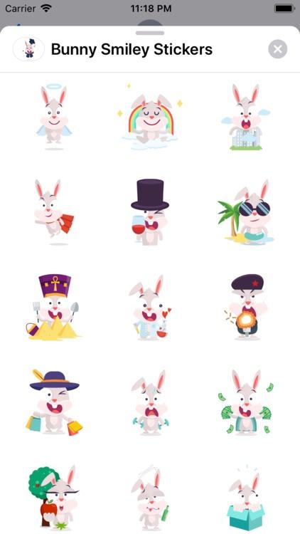Bunny Smiley Stickers