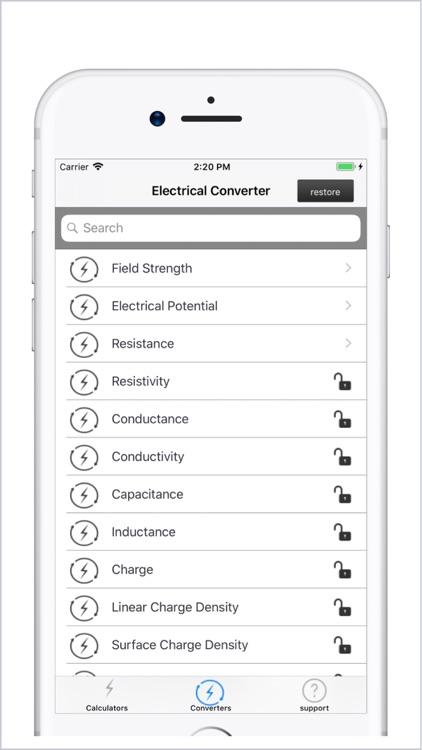 Electrical Calculator lite screenshot-8