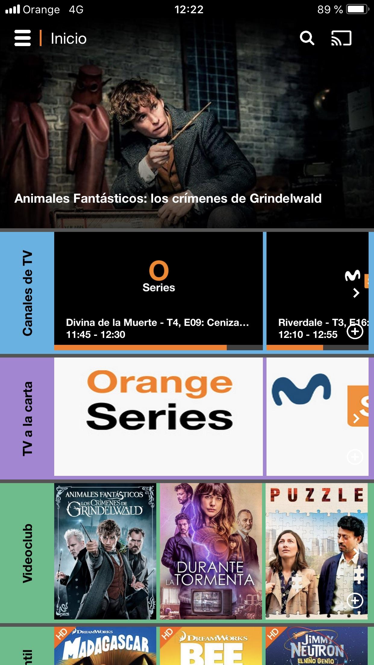 Orange TV Screenshot