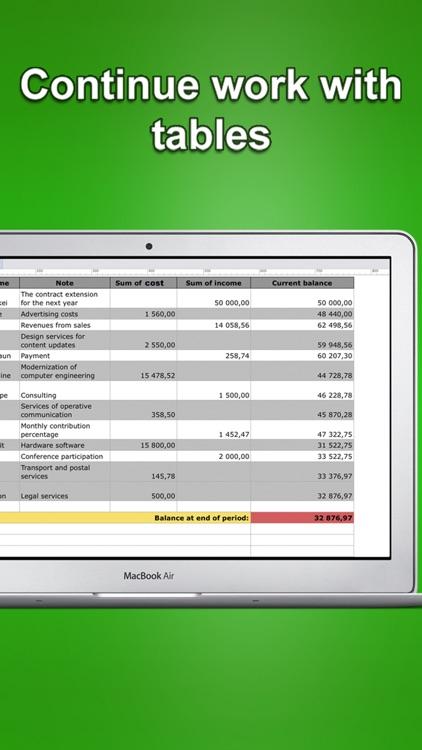 Financial Tracker pro - Tables screenshot-4