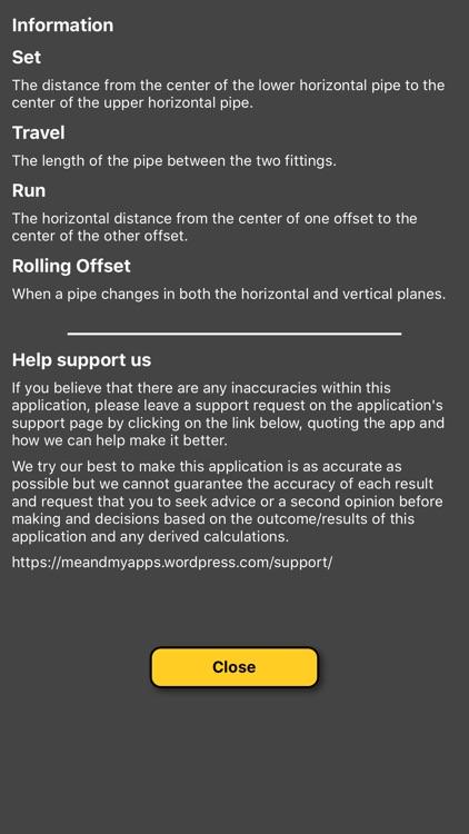 Pipe Offset Calculator screenshot-4
