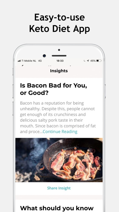 Keto Diet Macro & Carb Tracker Screenshot