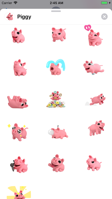 Screenshot for Piggy Bang Cutest Sticker Pack in Singapore App Store