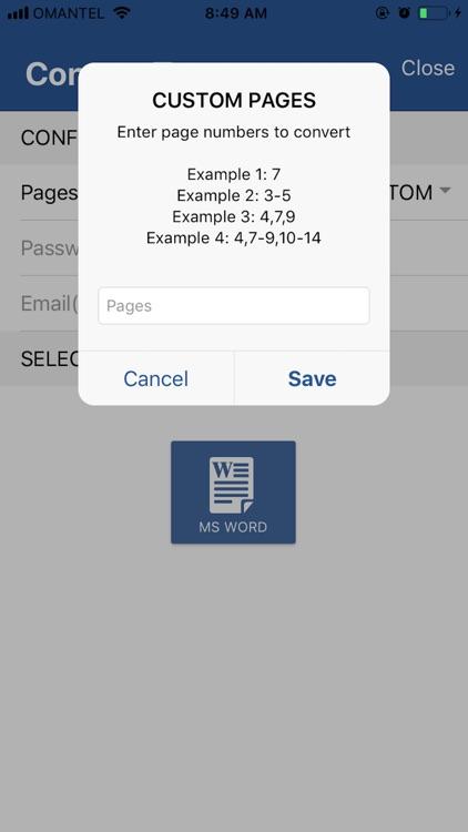 Aadhi PDF to Word Converter Pr screenshot-3