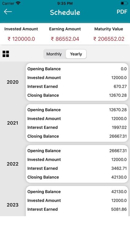 SIP Calculator : Mutual Fund screenshot-3