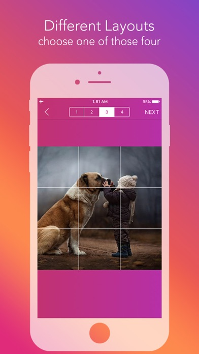 Screenshot for Griddy Pro: Split Pic in Grids in South Africa App Store