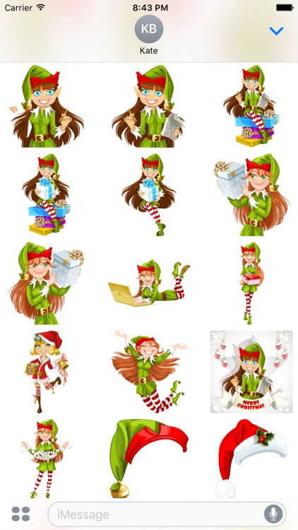 Santas Helpers Stickers