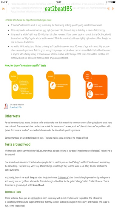 IBSDietMatch- IBS diet, FODMAP screenshot four