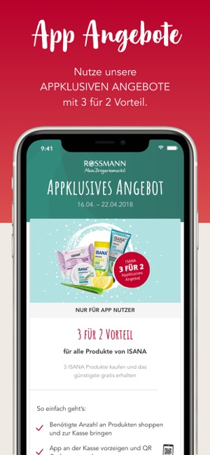 Rossmann app anmelden